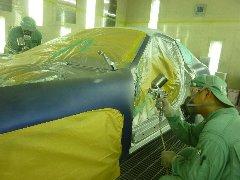 車両の一部を塗装